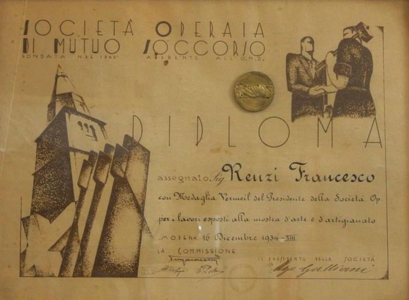 DIPLOMA SOCIETÀ OPERAIA 1934