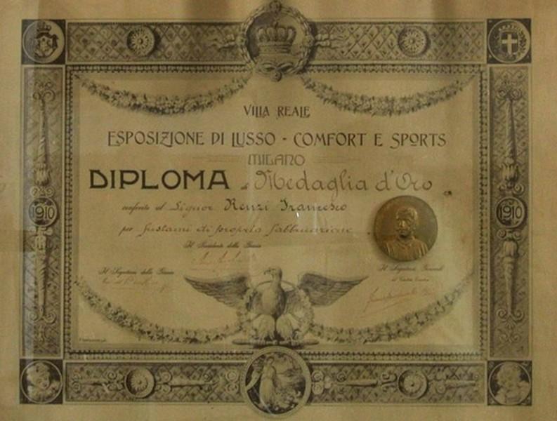 VILLA REALE DIPLOMA 1910